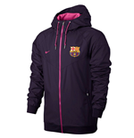 2016-2017 Barcelona Nike Authentic Windrunner Jacket (Purple)