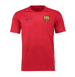 2016-2017 Barcelona Nike Pre-Match Dry Training Shirt (Red)