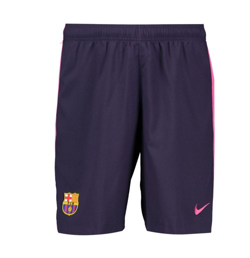 2016-2017 Barcelona Away Nike Football Shorts Purple (Kids)