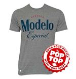 Modelo Grey Pop Top Bottle Opener Tee Shirt