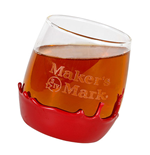 Wax Dipped MAKER'S MARK Rolling Rocks Glass