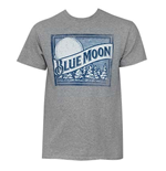 BLUE MOON Grey Logo Tee Shirt