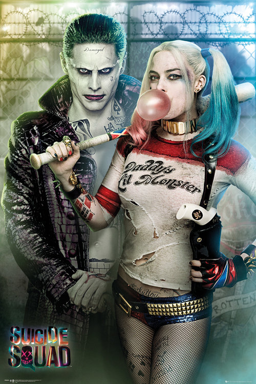 Suicide Squad Joker and Harley Quinn Maxi Poster