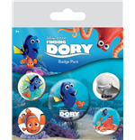 Finding Dory Pin Badges 5-Pack