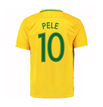 2016-17 Brazil Home Shirt (Pele 10) - Kids