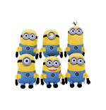 Minions Plush Figures Plastic Eyes 22 cm Assortment (6)