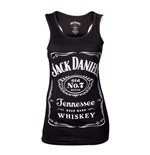 JACK DANIEL'S Woman's Old No.7 Brand Logo Tank Top, Large, Black