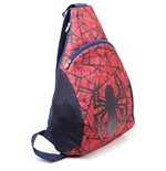 MARVEL COMICS Ultimate Spider-Man Unisex Ultimate Spidey Sling Backpack, One Size, Red/Blue
