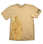 UNCHARTED 4: A Thief's End Nathan Drake Map T-Shirt, Extra Extra Large, Orange