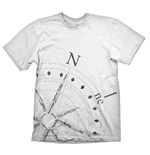 UNCHARTED 4: A Thief's End Compass T-Shirt, Extra Large, White