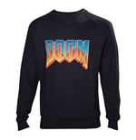 DOOM Men's Vintage Logo Sweater, Large, Black