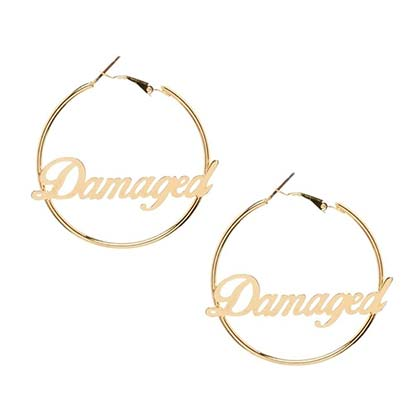 "SUICIDE SQUAD ""Damaged"" Hoop Earrings"