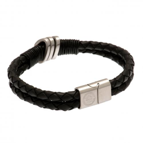 Leicester City F.C. Leather Bracelet