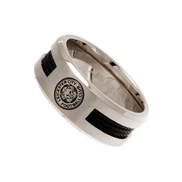 Leicester City F.C. Black Inlay Ring Large