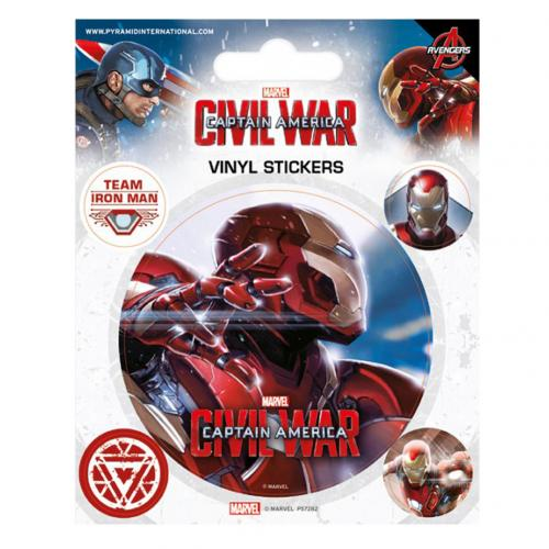 Captain America Civil War Stickers Iron Man