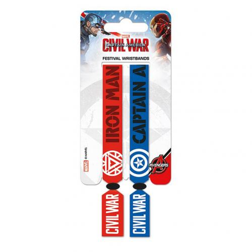 Captain America Civil War Festival Wristbands