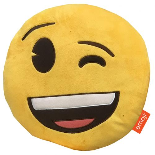Emoji Cushion Winking