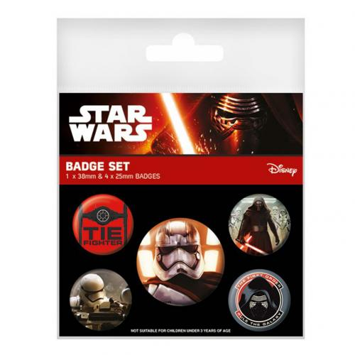 Star Wars The Force Awakens Button Badge Set First Order