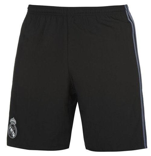 2016-2017 Real Madrid Adidas Third Shorts (Black)