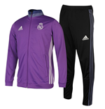 2016-2017 Real Madrid Adidas Presentation Tracksuit (Purple) - Kids