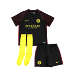 2016-2017 Man City Away Nike Little Boys Mini Kit