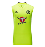 2016-2017 Chelsea Adidas Sleeveless Training Jersey (Yellow)
