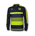 2016-2017 Arsenal Puma Training Sweat Top (Peacot)