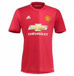2016-2017 Man Utd Adidas Home Football Shirt