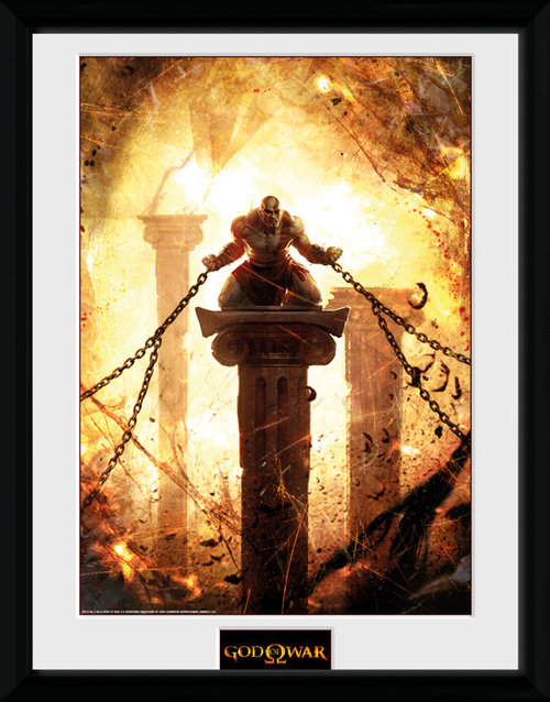 God of War Kratos Chained Framed Collector Print