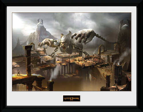 God of War Concept Art Canyon Framed Collector Print