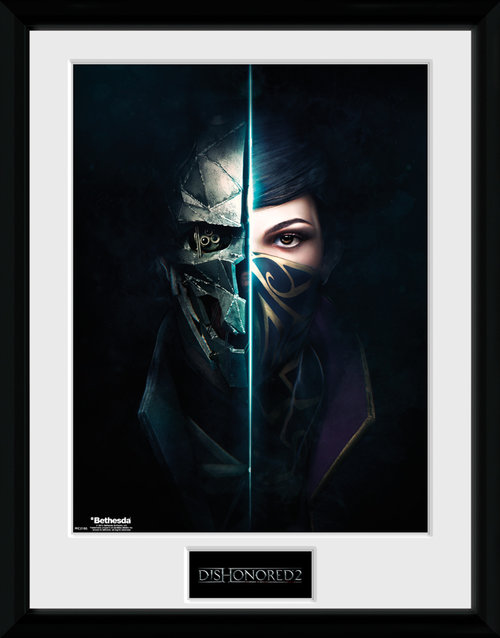 Dishonored 2 Faces Framed Collector Print