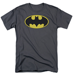 BATMAN Classic Bat Logo Men's Grey Tshirt