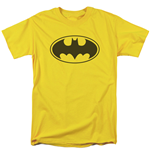 BATMAN Logo Yellow Men's Tshirt
