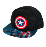 CAPTAIN AMERICA Black Snapback Hat