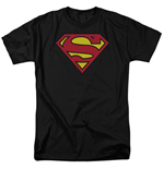 SUPERMAN Classic Logo Men's Black Tshirt