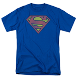 SUPERMAN Retro Distressed Logo Men's Tshirt