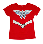 WONDER WOMAN Youth Girls Costume Tee Shirt