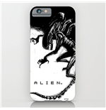 Alien iPhone 4 Case Xenomorph Black & White Comic