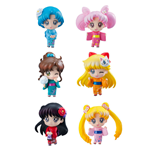 Sailor Moon Petit Chara Trading Figure 6-Pack Let's go to festival 6 cm