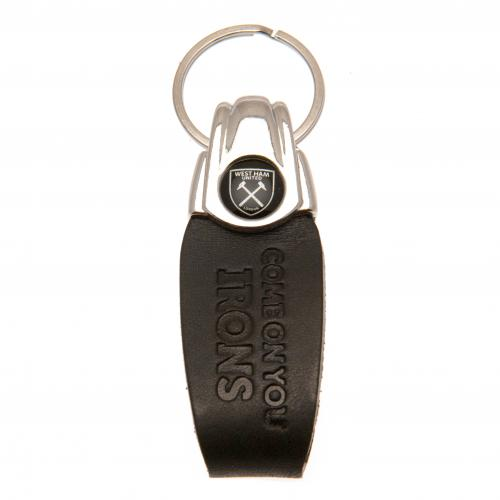 West Ham United F.C. Italian Leather Keyring