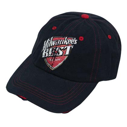 Milwaukee Best Tattered Red Stiches Hat