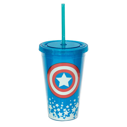 CAPTAIN AMERICA Glow In The Dark Travel Cup