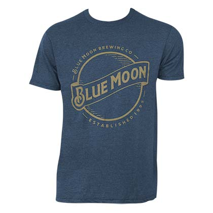 BLUE MOON Gold Logo Tee Shirt