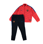 2016-2017 Barcelona Nike Little Boys Tracksuit (Crimson) - Kids
