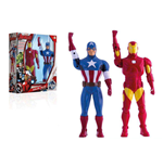 Avengers Assemble Walkie-Talkie Figures Iron Man & Captain America