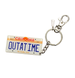 Back to the Future Metal Keychain Car Plate 7 cm