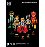 Justice League Hybrid Mini Metal Action Figure 5-Pack 7 cm