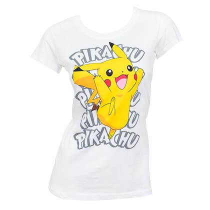 POKEMON Pikachu White Women's Tee Shirt