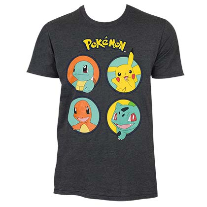 POKEMON Character Circles Tee Shirt