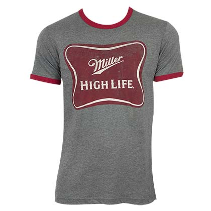 MILLER High Life Ringer Tee Shirt